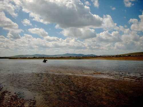 Река Онон в окрестностях села Биндэр