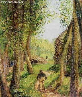 Писсаро. Лесной ландшафт