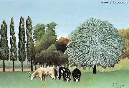 А. Руссо. Коровы на берегу Уазы