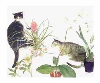 Блакэддер. Два кота и цветы
